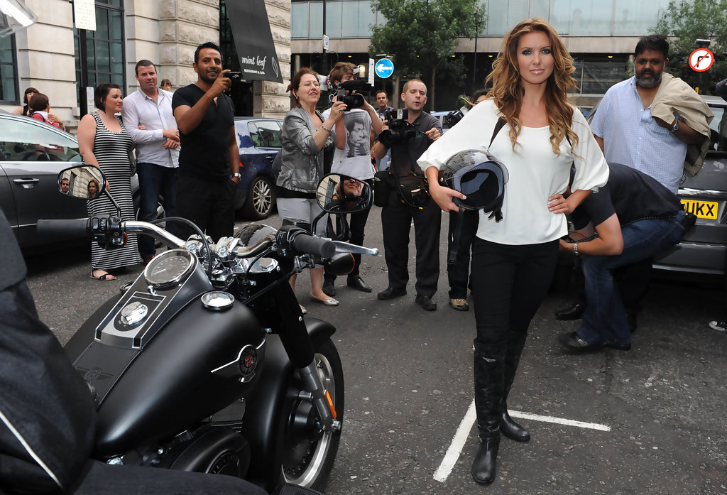 Audrina Patridge & Harley Davidson on RidinGirlsBlog